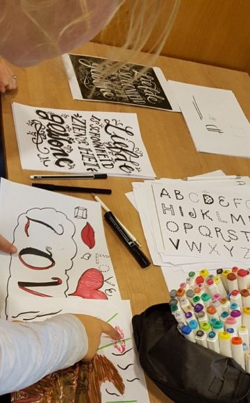 Workshop Handlettering op school