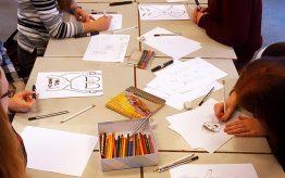 Workshop Cartoontekenen op school 1