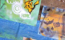Workshop Graffiti Stencil op school 5