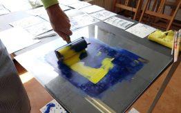 Workshop Monotype Design op school 3