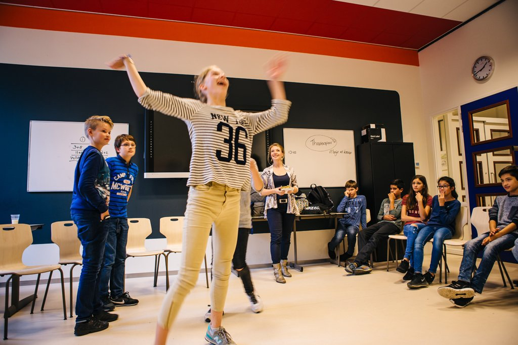Workshop Theatersport op school 34