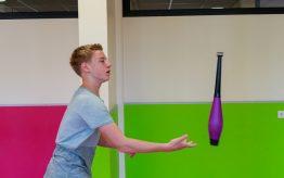 Workshop jongleren op school 2
