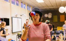 Workshop jongleren op school 6