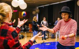 Workshop jongleren op school 7