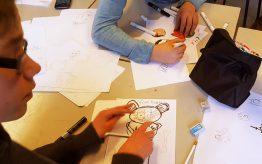 Workshop school onderwijs Cartoontekenen 2
