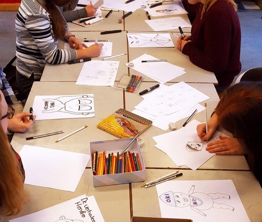Workshop school onderwijs Cartoontekenen