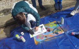 Workshop school onderwijs Graffiti Stencil