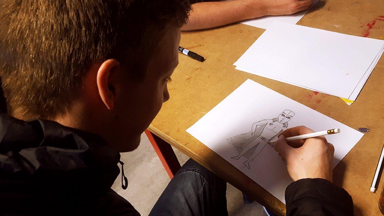 Workshop school onderwijs Illustratie