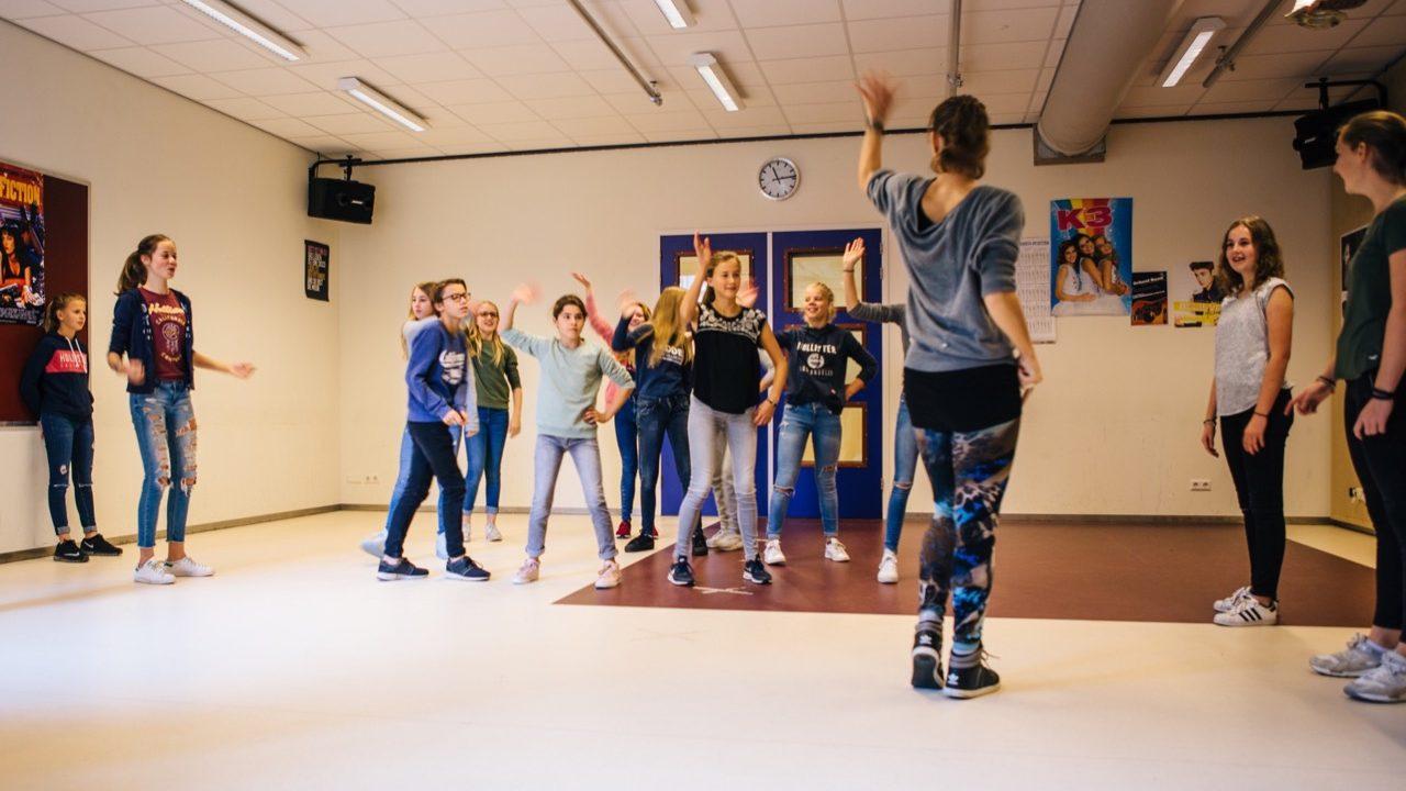 Workshop school onderwijs Moderne Dans