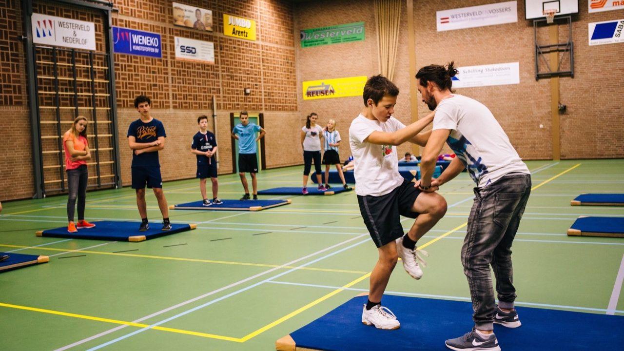 Workshop school onderwijs Stage Fighting 5