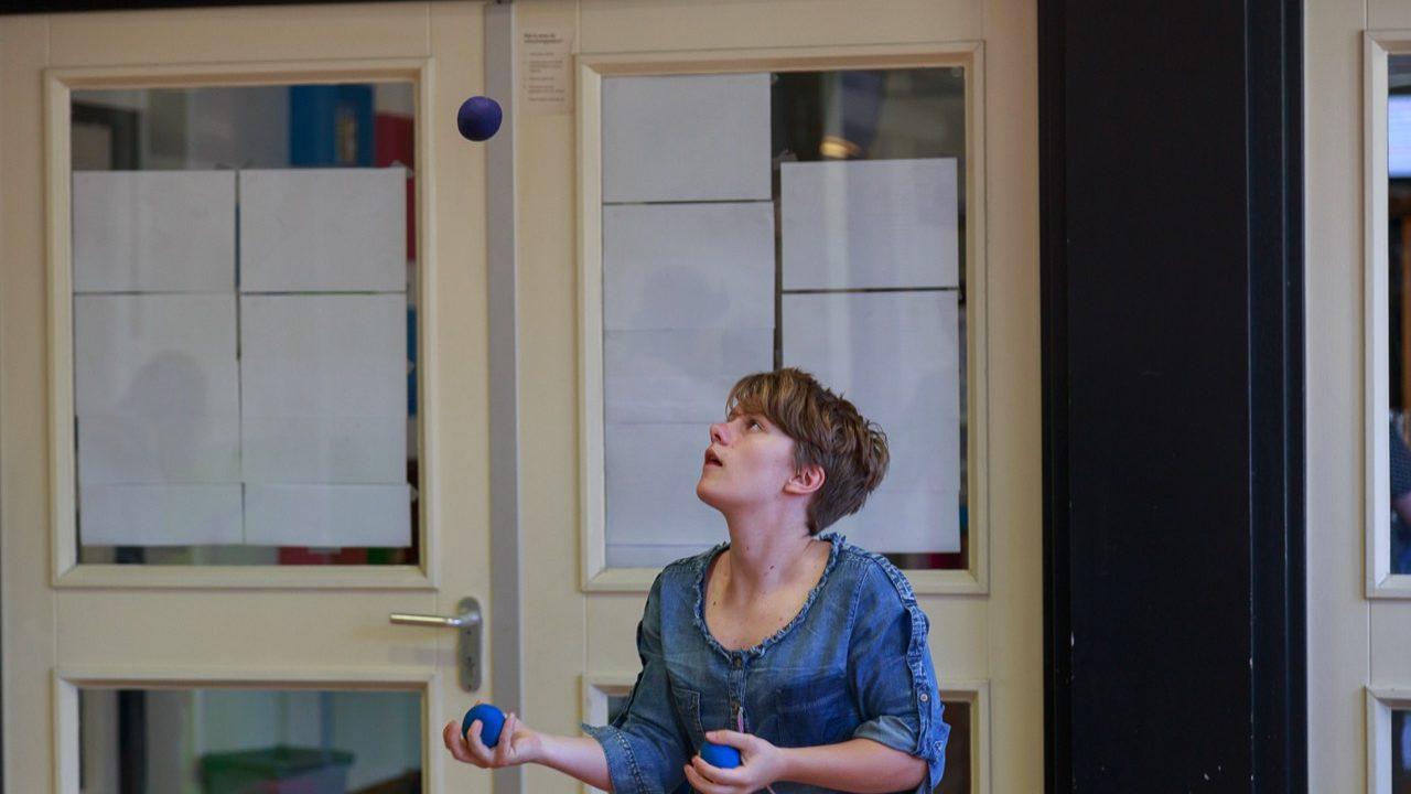 Workshop school onderwijs jongleren