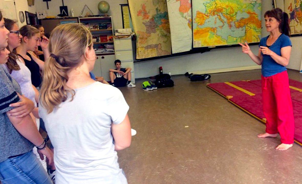 Workshop school onderwijs acrobatiek