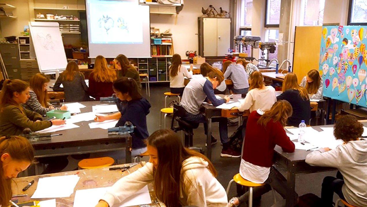 Thema-vrijheid-illustratie-workshop-school